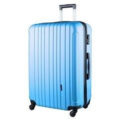 c1560e0ec319f Duża walizka KEMER 2011BP L Błękitna