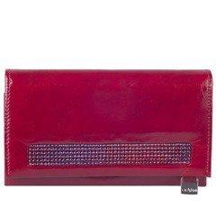 344907a96bce6 Portfel damski skórzany KEMER Swarovski Elements DV140 Czerwony