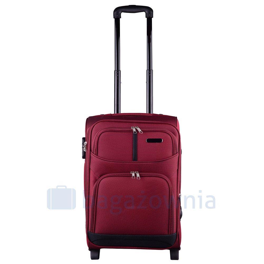 4b765d5a53e8c Mała kabinowa walizka KEMER 206 S Czerwona - KEMER - Sklep KEMER.pl