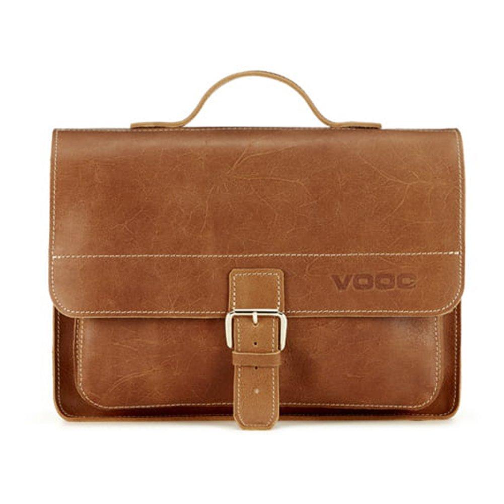 Skórzana torba na ramię teczka KEMER VOOC TC5 Camel Edycja