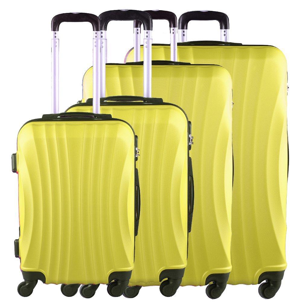 97f8cde77f868 Zestaw 4 walizek KEMER 159 Żółte - KEMER - Sklep KEMER.pl
