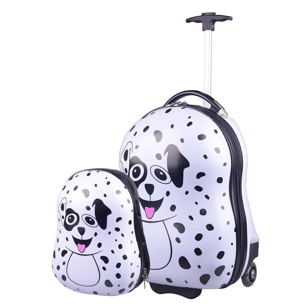 67642529ba20b Zestaw walizka i plecak KEMER PIESEK Biało Czarne - KEMER - Sklep ...